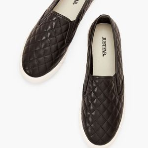 JustFab Quilted Slip on Sneakers